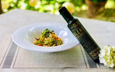 """Spaghetti con crema di zucchine, verdure arrosto ed Evo Blend Bio """"Gregori"""""""