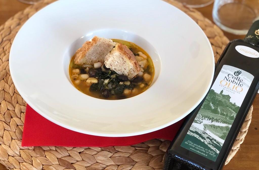 zuppa di legumi e olio evo