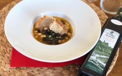 Zuppa di legumi ed olio evo monovarietale di Mignola