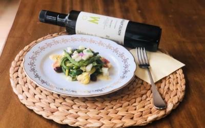 Insalata di fagiolini, pecorino, fichi ed olio di Leccino