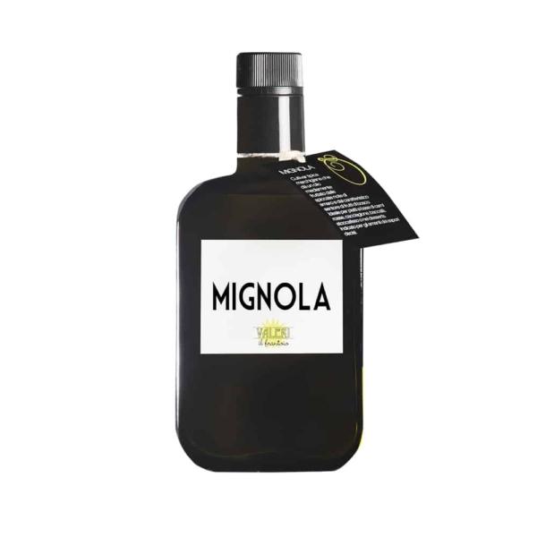 bottiglia di olio extravergine di oliva frantoio valeri